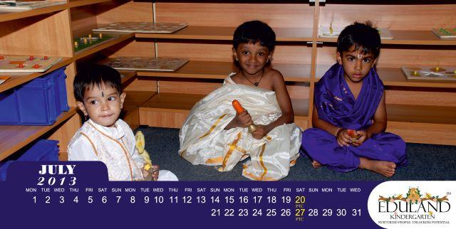 Eduland Kindergarten Calendar July 2013