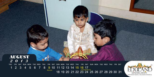 Eduland Kindergarten Calendar - Aug 2013