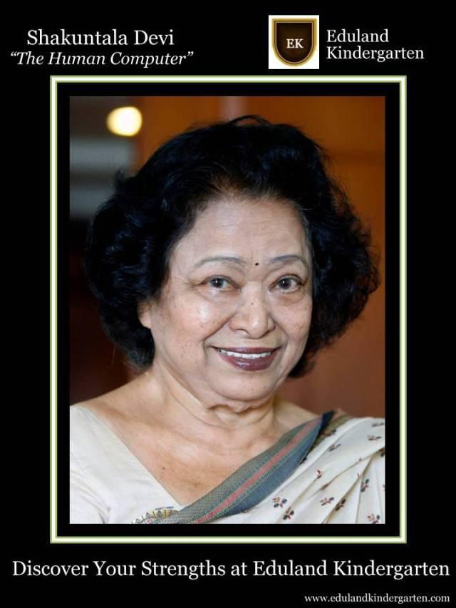 Shakuntala Devi (November 4, 1929 – April 21, 2013)