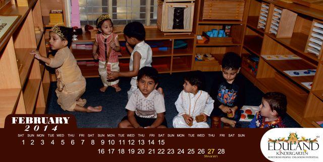 Eduland Kindergarten Calendar - Feb14